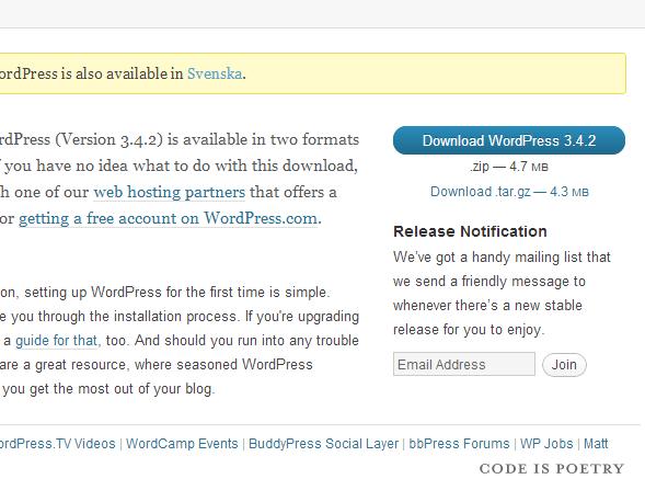 Hur installerar man WordPress