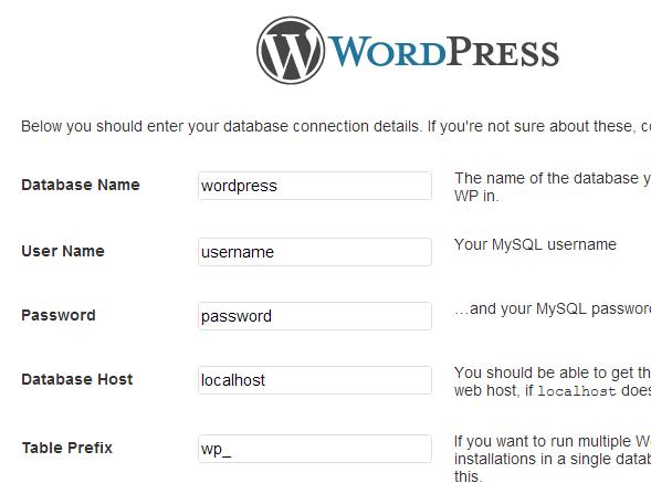 Hur installerar man WordPress 4