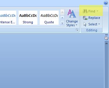 Hur söker man i ett Word-dokument